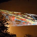 """Projektionen von Gela: """"Bones in Radiation"""" (Acryl und Pastell auf Ingres-Papier)"""