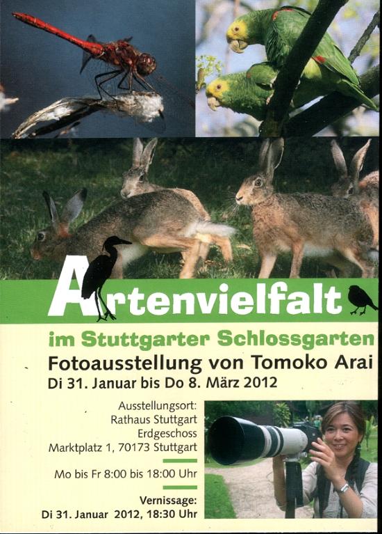 """Fotoausstellung """"Artenvielfalt im Stuttgarter Schlossgarten"""" von Tomoko Arai"""