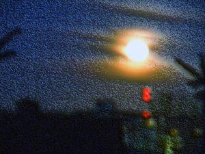 Last morning's full moon