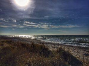 Heavy wind with 35 kmh on the Island of Fehmarn