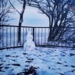 The day before yesterday we meet a snowwoman near the beach