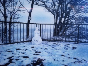 The day before yesterday we meet a snowwoman near the beach