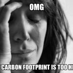 OMG my carbon footprint is too high (#FirstWorldProblems)
