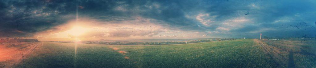 Sunset panorama at Heidkate