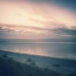 The sea is calm again